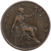 Great Britain 1903 Penny VF-EF