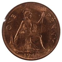 Great Britain 1948 Penny Brilliant Uncirculated