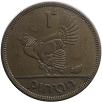 Ireland 1941 Penny Almost Uncirculated (AU-50)