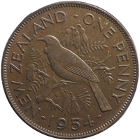 New Zealand 1954 Penny VF-EF (VF-30)