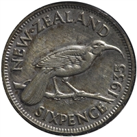 New Zealand 1935 6 Pence Very Fine (VF-20)