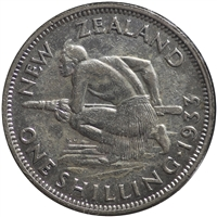 New Zealand 1933 Shilling VF-EF (VF-30)