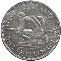 New Zealand 1940 Shilling VF-EF (VF-30)