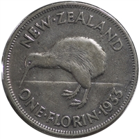 New Zealand 1933 Florin VF-EF (VF-30)