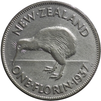 New Zealand 1937 Florin Very Fine (VF-20)