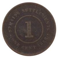 Straits Settlements 1888 Cent Very Fine