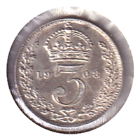 Great Britain 1908 3 Pence EF-AU (EF-45)