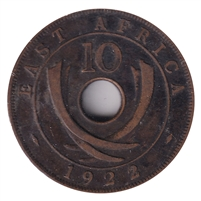 East Africa 1922 10-cents Extra Fine (EF-40)