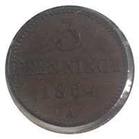 Germany 1864A Mecklenburg Almost Uncirculated (AU-50)