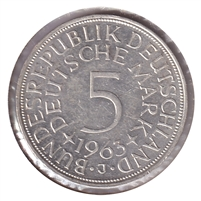 Germany 1963J 5 Mark Uncirculated (MS-60)