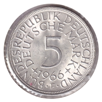 Germany 1966F 5 Mark Brilliant Uncirculated (MS-63)