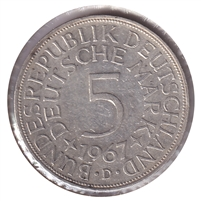 Germany 1967D 5 Mark Uncirculated (MS-60)