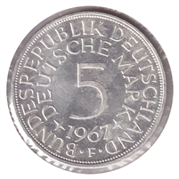 Germany 1967F 5 Mark Brilliant Uncirculated (MS-63)