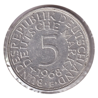 Germany 1968F 5 Mark Uncirculated (MS-60)