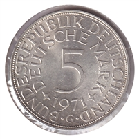 Germany 1971G 5 Mark Uncirculated (MS-60)