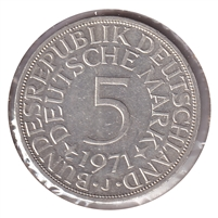 Germany 1971J 5 Mark Uncirculated (MS-60)
