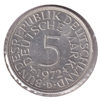 Germany 1972D 5 Mark Uncirculated (MS-60)
