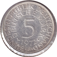 Germany 1972F 5 Mark Uncirculated (MS-60)