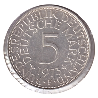 Germany 1973F 5 Mark Uncirculated (MS-60)