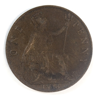 Great Britain 1918 Penny VF-EF (VF-30)