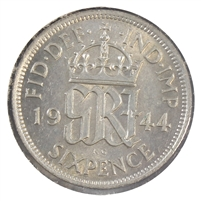 Great Britain 1944 6 Pence Uncirculated (MS-60)