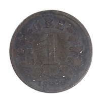 Norway 1876 Ore Very Fine (VF-20)