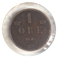 Sweden 1875 Ore Very Fine (VF-20)