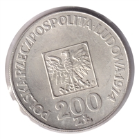 Poland 1974 200 Zlotych Uncirculated (MS-60)