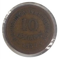 Portugal 1938 10 Centavos Very Fine (VF-20)