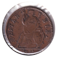 Great Britain 1675 Charles II Farthing Almost Uncirculated (AU-50) $