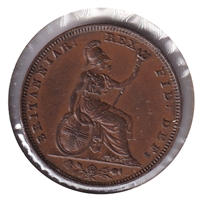 Great Britain 1826 1/2 Penny Almost Uncirculated (AU-50) $