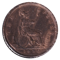 Great Britain 1880 Penny AU-UNC (AU-55) $