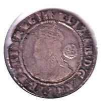 Great Britain 1585 Rose Elizabeth 6 Pence F-VF (F-15) $