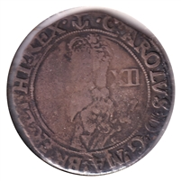 Great Britain 1638-39 Anchor, Double Arched Crown, Charles I Shilling Very Fine (VF-20) $