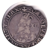 Great Britain 1638-1639 Anchor, Charles I Shilling F-VF (F-15) $