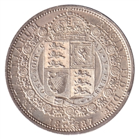 Great Britain 1887 1/2 Crown Choice Brilliant Uncirculated (MS-64) $