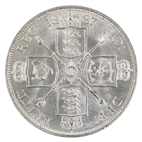 Great Britain 1887 Roman I Double Florin UNC+ (MS-62) $