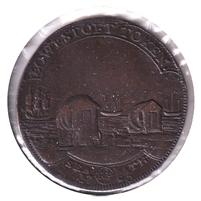 Great Britain 1793 Lowestoft Token Success to the Fisheries Almost Uncirculated (AU-50) $