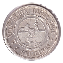 South Africa 1895 2 Shillings VF-EF (VF-30) $
