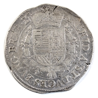 Spanish Netherlands 1612-1619 Antwerp Mint Albert & Elizabeth Patagon Very Fine (VF-20) $