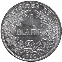 German States 1910F 1 Mark Choice Brilliant Uncirculated (MS-64)