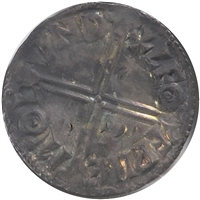Anglo Saxon England 978-1016 Long Cross, Aethelred II Silver Penny AU-UNC (AU-55)