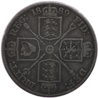 Great Britain 1889 Double Florin F-VF (F-15) $