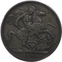 Great Britain 1890 Crown VF-EF (VF-30) $