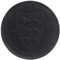 Jersey 1877H 1/24 Shilling Extra Fine (EF-40)