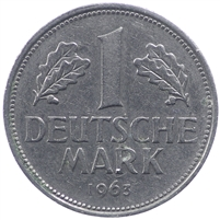 Germany  1963J Mark Almost Uncirculated (AU-50) $