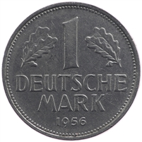 Germany 1956F Mark Almost Uncirculated (AU-50) $