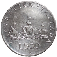 Italy 1961R 500 Lire Almost Uncirculated (AU-50)