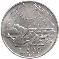 Italy 1965R 500 Lire Uncirculated (MS-60)