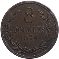 Guernsey 1874 8 Doubles Extra Fine (EF-40)